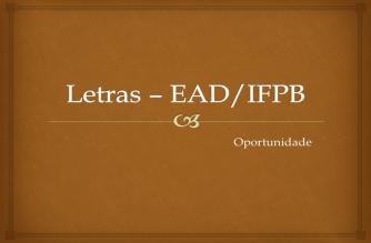 IFPB lança edital para ingresso em Curso de Letras à distância