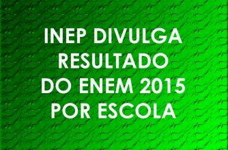 INEP divulga resultado do ENEM 2015 por escola