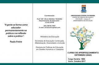 Departamento de Educação do CCAE-UFPB abre inscrição para curso EAD de formação de professor e de gestor