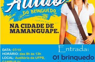 Cursinho PRE-ENEM do CCAE-UFPB realiza Aulão do Brinquedo em Mamanguape